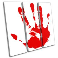 Blood Hand Print Illustration - 13-1297(00B)-TR11-LO